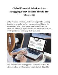 Global Financial Solutions Asia Struggling Forex Traders Should Try These Tips.docx