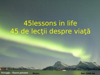 45 lectii de viata in imagini superbe din norvegia.pps