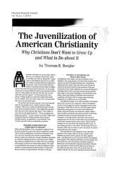 JuvenilizationOfChristianity.pdf