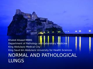 Normal & Pathological Lungs-1.ppt