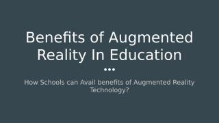 Augmented Reality for Education.pptx