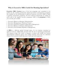 Why is Executive MBA Useful for Running Specialists (1).pdf