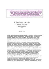A FEBRE DA PAIXÃO -ANNE MATHER - By o Blog da Selminha