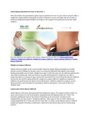 Gastric Bypass Operations For Over 15 Years Part - I.docx